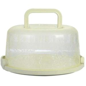 Singeru Kuchenbehälter rund mit Haube Fresh Kuchenbehälter Fresh Tortenglocke Kuchenform Kuchenbox BPA-freier Kunststoff Kuchentransportbox (Grun)