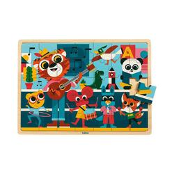 DJECO Puzzle Holz-Puzzle Puzzlo Music, 35 Teile, Puzzleteile