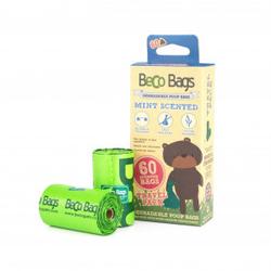 Beco Bags Poepzakjes Mint - 60 stuks  Per 3 verpakkingen