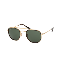 Ray-Ban THE MARSHAL II RB 3648 M 001, Runde Sonnenbrille, Unisex