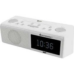 Soundmaster UR8350WE Radiowecker DAB+, UKW AUX, USB Weiß
