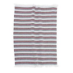 Alvi® Baumwolldecke Navi gestreift 75x100 cm