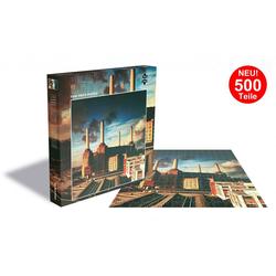 empireposter Puzzle Pink Floyd Animals - 500 Teile LP Cover Puzzle im Format 39x39 cm, 500 Puzzleteile