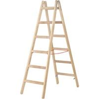 Hymer Holz-Sprossenstehleiter 7141024
