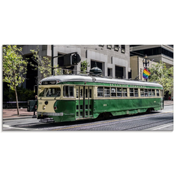 Artland Glasbild Historische Straßenbahn in San Francisco, Züge (1 Stück)