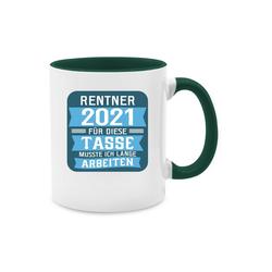 Shirtracer Tasse Rentner 2021 - blau - Rentner Geschenk Tasse - Tasse zweifarbig - Tassen, tasse rentner