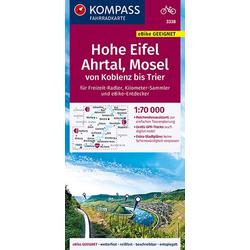 KOMPASS Fahrradkarte Hohe Eifel Ahrtal Mosel von Koblenz bis Trier 1:70.000