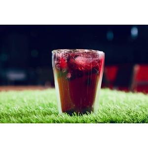 YEM 6 x 300ml doppelwandige Thermo-Gläser, für Latte Macchiato, Cocktails, Desserts, Doppelwandgläser, Stripes