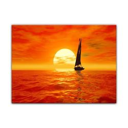 Bilderdepot24 Leinwandbild, Leinwandbild - Segelboot 60 cm x 50 cm
