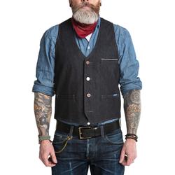 Blaumann Jeans Weste schmal, dunkel (tief)