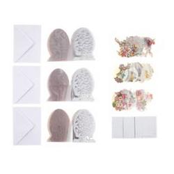 Grußkarten-Set Ostern 3D-Motive & Kristallfolienkarten 123tlg.