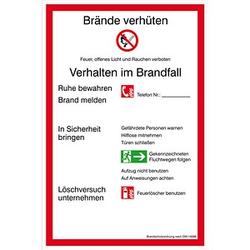 SafetyMarking® Brandschutzschild - Brandschutzordnung Teil A