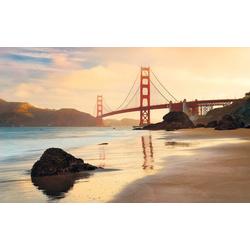 Komar Vliestapete Golden Gate, glatt, Stadt