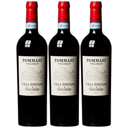 Tommasi Viticoltori Villa Fontana Bardolino Rotwein trocken 750ml 3er Pack