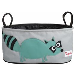 3 Sprouts - Kinderwagentasche Waschbär