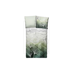 Casa Nova Bettwäsche Ginkgo in grün, 135 x 200 cm