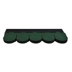 Onduline Dachschindeln Bitumenschindeln Dachschindeln Biber Schindel Dachpappe Bitumen Glasvlies grün gefl. 3,05 m², Biber, 3.05 m² pro Paket, (21-St)