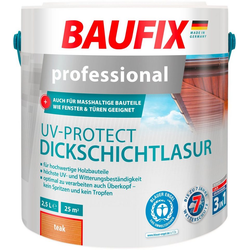 Baufix Holzschutzlasur Teak, 2,5 Liter, braun