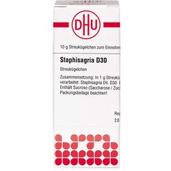 STAPHISAGRIA D 30 Globuli 10 g