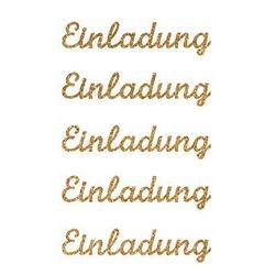 Sticker Einladung II gold