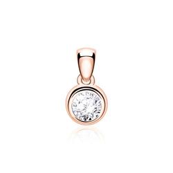 Kettenanhänger für Damen aus 14K Roségold mit Diamant