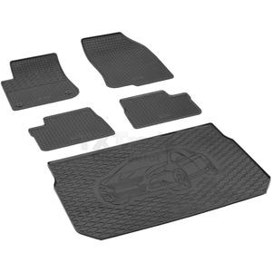 Passende Gummimatten und Kofferraumwanne Set geeignet für Peugeot 2008 ab 2013ein Satz + Gurtschoner