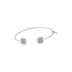 LOTUS SILVER Armspange JLP1252-2-1 Lotus Silver Circle Armspange (Armspangen), Armspangen für Damen 925 Sterling Silber, silber