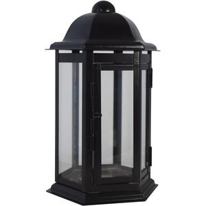 Paul Jansen Grablaterne, schwarz, 13 x 13 x 24 cm, 0865