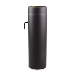 Ø 180 mm - Ofenrohr 50 cm mit Drosselklappe Schwarz