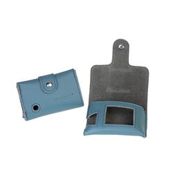 Ledertasche für Dexcom-Lesegerät G6 blau mit Clip PZN: 15391012