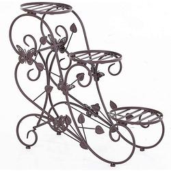 Dreistufiges Blumenständer bronze