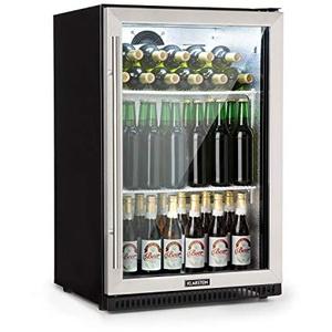 Klarstein Beersafe Pro Barkühlschrank • Backbar • Getränkekühlschrank • Gewerbekühlschrank • 133 Liter • 2 Metall-Einlegeböden • selbstschließende Tür • 0 bis 22 °C • Glastür • Edelstahlfront