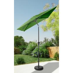 garten gut Sonnenschirm, abknickbar, ohne Schirmständer grün Sonnenschirme -segel Gartenmöbel Gartendeko Sonnenschirm