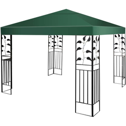 COSTWAY Pavillon-Schutzhülle Dachplane für Pavillon grün