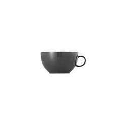 Thomas Porzellan Cappuccinotasse Sunny Day Grey Cappuccino-Obertasse, Porzellan
