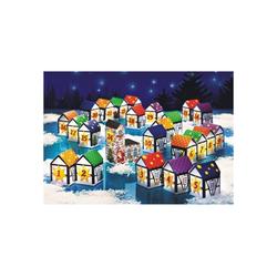 WENKO Kalender zum Selbstbasteln Adventskalender Dorf 24tlg. Weihnachten Advent