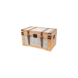 HMF Schatzkiste Mali, Schatztruhe, aus Holz mit Stoffbezug, 50 x 27 x 27 cm