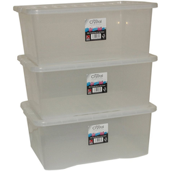 Aufbewahrungsbox Wham - Crystal (Set, 3 Stück), 45 l, stapelbar