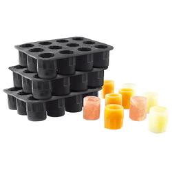 Silikon-Formen 3er-Set für 36 Schnapsgläser 2 cl aus Eis