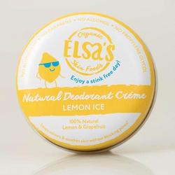 Elsa's Organic Skin Foods - Deodorant Creme - Lemon Ice