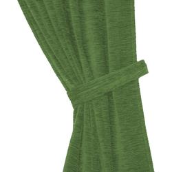 Raffhalter Thermo-Chenille 288g/m², Wirth, Gardinen, (2-tlg) grün 60 cm x 6 cm
