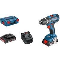 Bosch GSR 18-2-LI Plus Professional inkl. 2 x 2,0 Ah + L-Boxx (06019E6100)