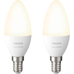 Philips Hue Kerzenlampe Weiß E14 Bluetooth Duo Pack