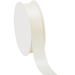 Satinband, creme, 25 mm, 25 m