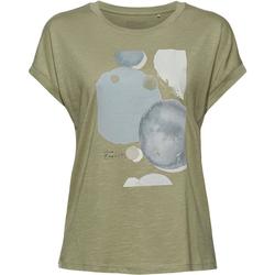 Esprit Kurzarmshirt mit ästhetischem Print vorne grün XS