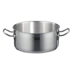 ELO Profi Therm Bratentopf ohne Deckel, Edelstahltopf geeignet für alle Herdarten, backofenfest bis 240°C, Durchmesser: 20 cm