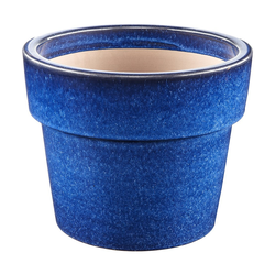 Dehner Blumentopf Keramiktopf, glasiert, blau