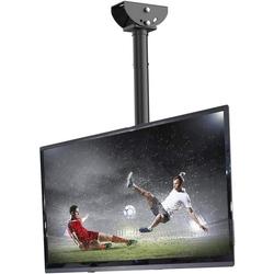 Fleximounts CM1 TV-Deckenhalterung, (bis 55,00 Zoll, TV Deckenhalterung Schwenkbar Neigbar Fernseher Halterung 26-55 Zoll Monitorhalterungen Fernsehhalterung LED LCD Halter Flachbildschirm VESA 400x400 Belastung bis zu 30 kg max)