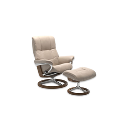 Stressless Ruhesessel mit Hocker Mayfair in Cori vanilla, Gestell Signature Teak