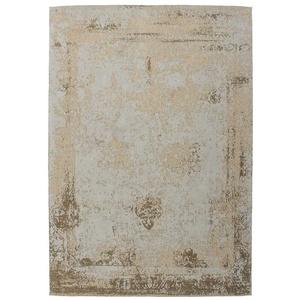 Brauner Teppich im Vintage Look Chenillegewebe